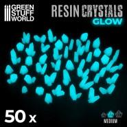 AQUA TURQUOISE GLOW Resin Crystals - Medium