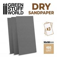 SandPaper180x90mm - DRY 400 grit