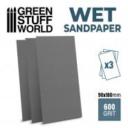 Wet Waterproof SandPaper180x90mm - 600 grit