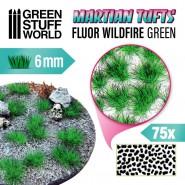 Martian Fluor Tufts - FLUOR WILDFIRE GREEN