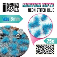 Martian Fluor Tufts - NEON STITCH BLUE