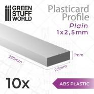 ABS Plasticard - Profile PLAIN 2.5mm