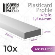 ABS Plasticard - Profile PLAIN 4mm
