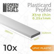 uPVC Plasticard - Profile Xtra-thin 0.25x1 mm