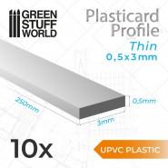 uPVC Plasticard - Thin 0.50mm x 3mm