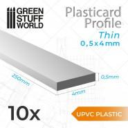 uPVC Plasticard - Thin 0.50mm x 4mm
