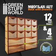 MDF Vertical rack with Drawers