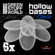 Hollow Plastic Bases -TRANSPARENT - Oval 75x42mm
