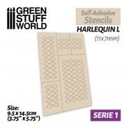 Self-adhesive stencils - Harlequin L - 11x7mm