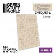 Self-adhesive stencils - Chequer L - 7mm