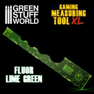Gaming Measuring Tool - Fluor Lime Green 12 inches